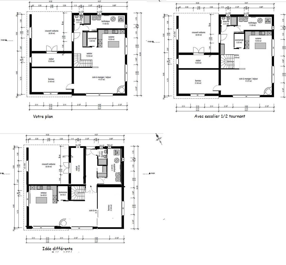 Plan maison avec sous sol for Plan maison contemporaine avec sous sol