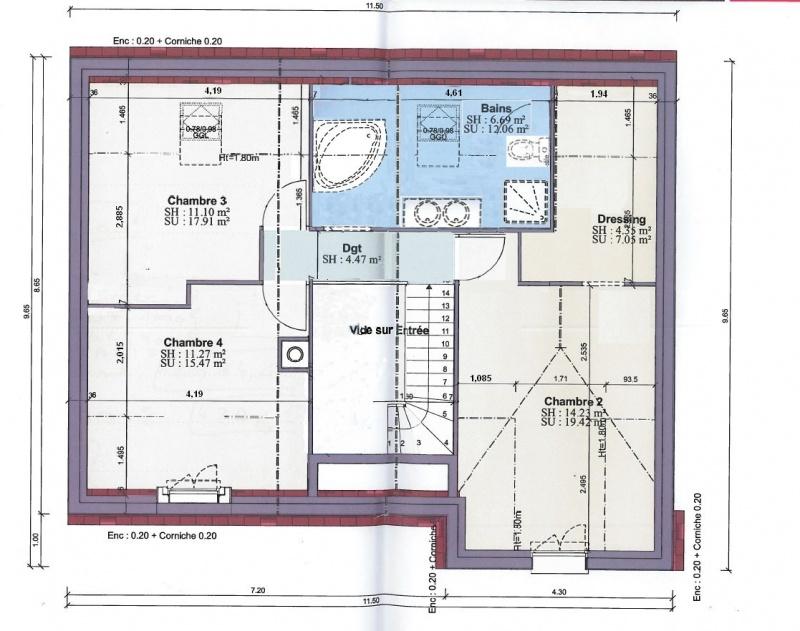 Plan Maison Etage 2 Chambres. Plan 2 De La Maison Habitat Concept 97