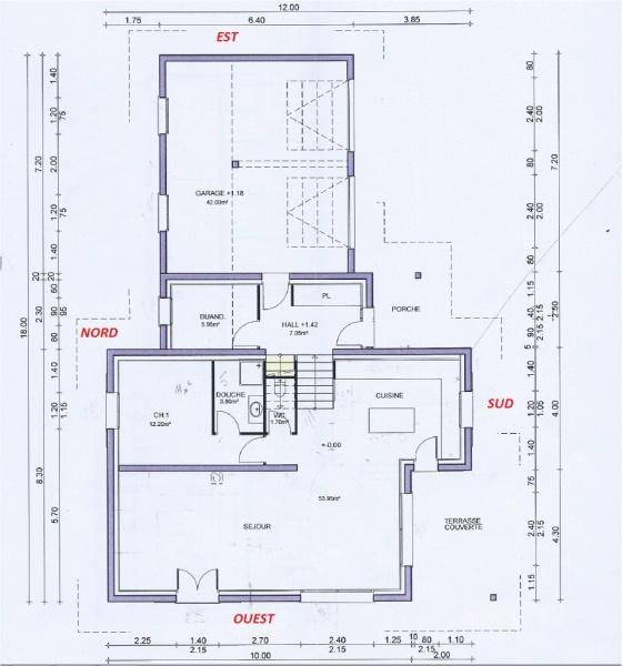 Avis sur plans pour maison de 174m2 habitable 17 messages - Plan maison entree sud ...