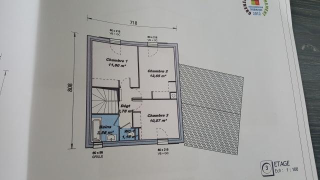 plan de maison 85 m2