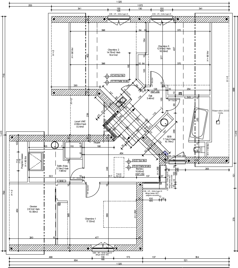 Un plan de maison 150m2 for Plan maison design