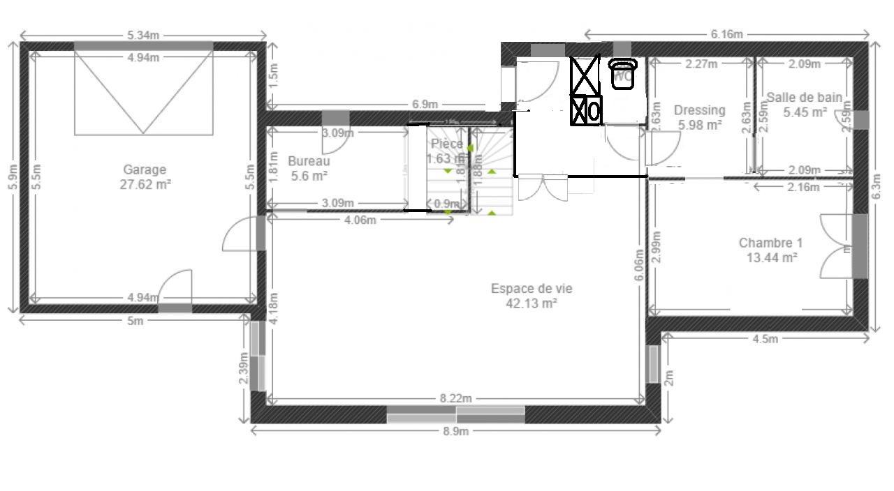 Avis plans maison tage partiel 120 m 8 messages - Plan sdb m ...