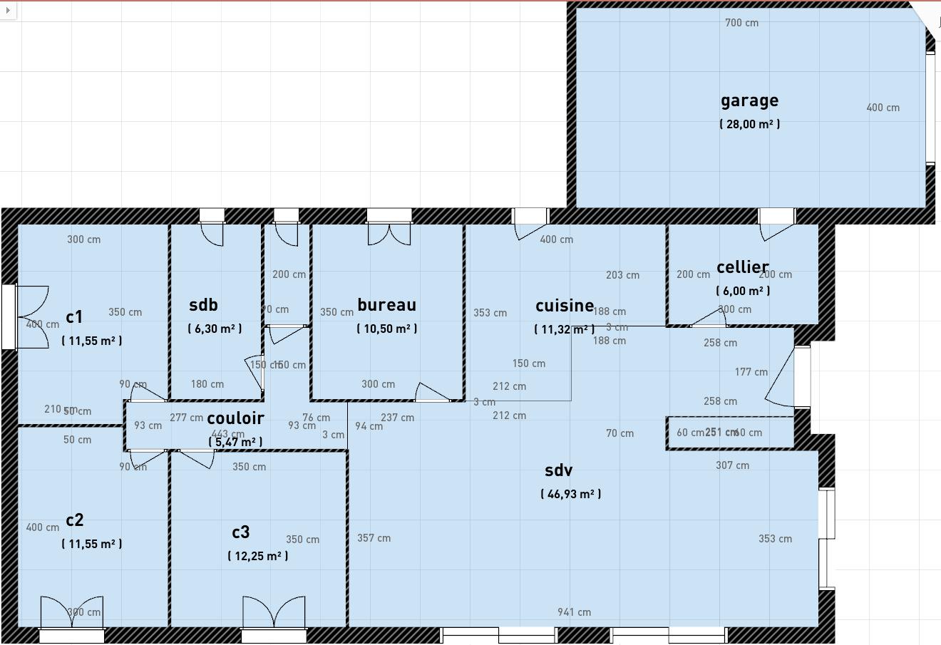 Avis sur plans maison plain pied de 120m et garage 30m for Plan maison garage a droite