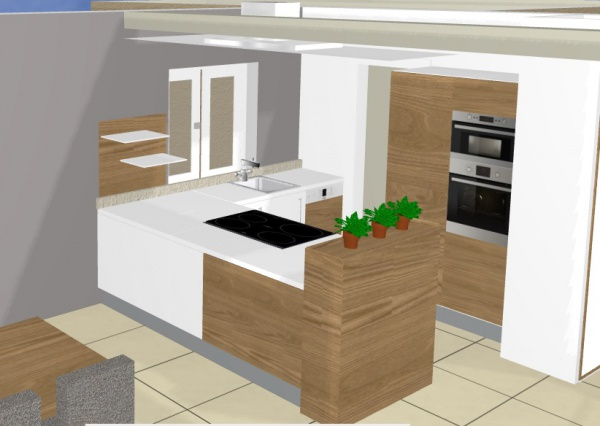 Meuble cuisine pour plaque de cuisson meubles de cuisine - Plaque de zinc pour cuisine ...