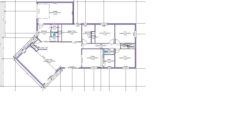 Avis sur projet de plan de maison 140m garage 18 messages for Plan maison garage a droite