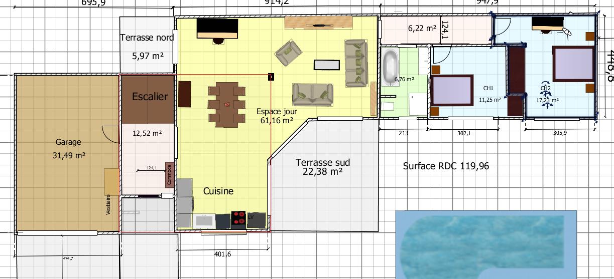 votre avis sur le rdc de notre plan de maison de 160 m2 60 messages page 2. Black Bedroom Furniture Sets. Home Design Ideas