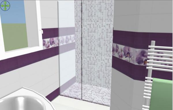 Salle De Bain Mauve Et Blanc : Avis carrelage salle de bain