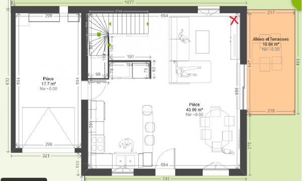 Plan agencement cuisine cool plan cuisine ouverte salle for Agencement de maison de plan libre