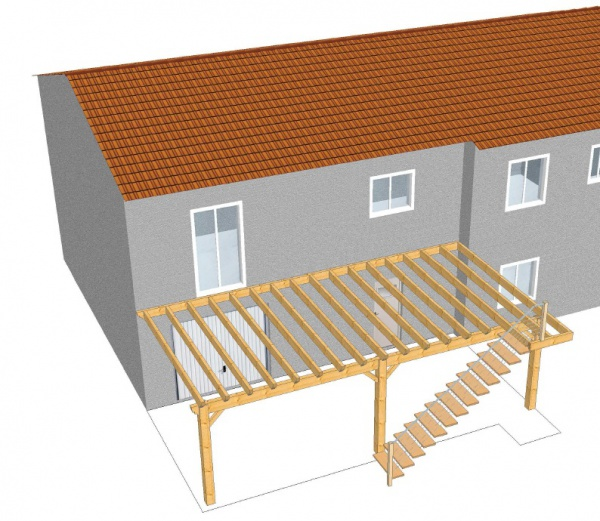 Charmant Terrasse Suspendue Sur Pilotis Pilotis Metal Et Concept Terrasse M. Plan  Terrasse Bois ...