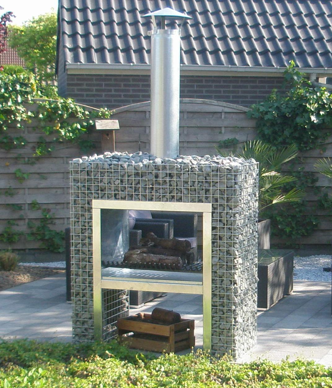 barbecue en gabion. Black Bedroom Furniture Sets. Home Design Ideas