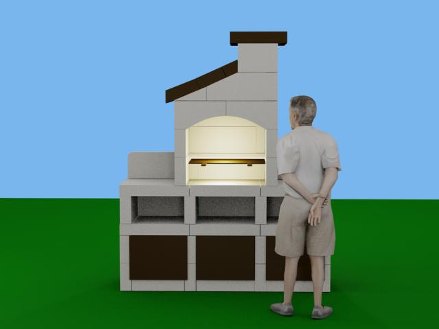 Best Great Pour Information Luhomme Fait M Sur Les Photos With Construire  Barbecue En Beton Cellulaire With Barbecue En Siporex