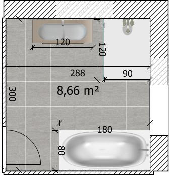 besoin d 39 aide pour avis plan sdb 6 messages. Black Bedroom Furniture Sets. Home Design Ideas