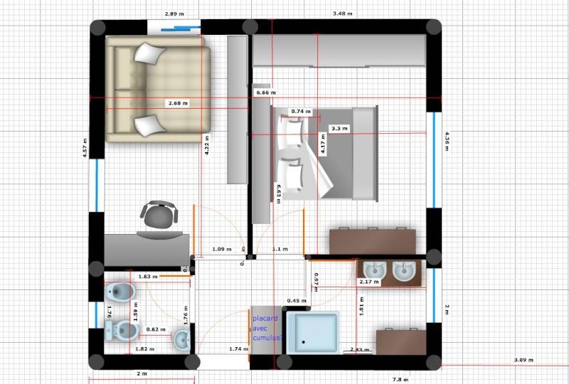 Besoin d 39 aide pour plan d 39 une extension 20 messages for Salle de bain de 6m2