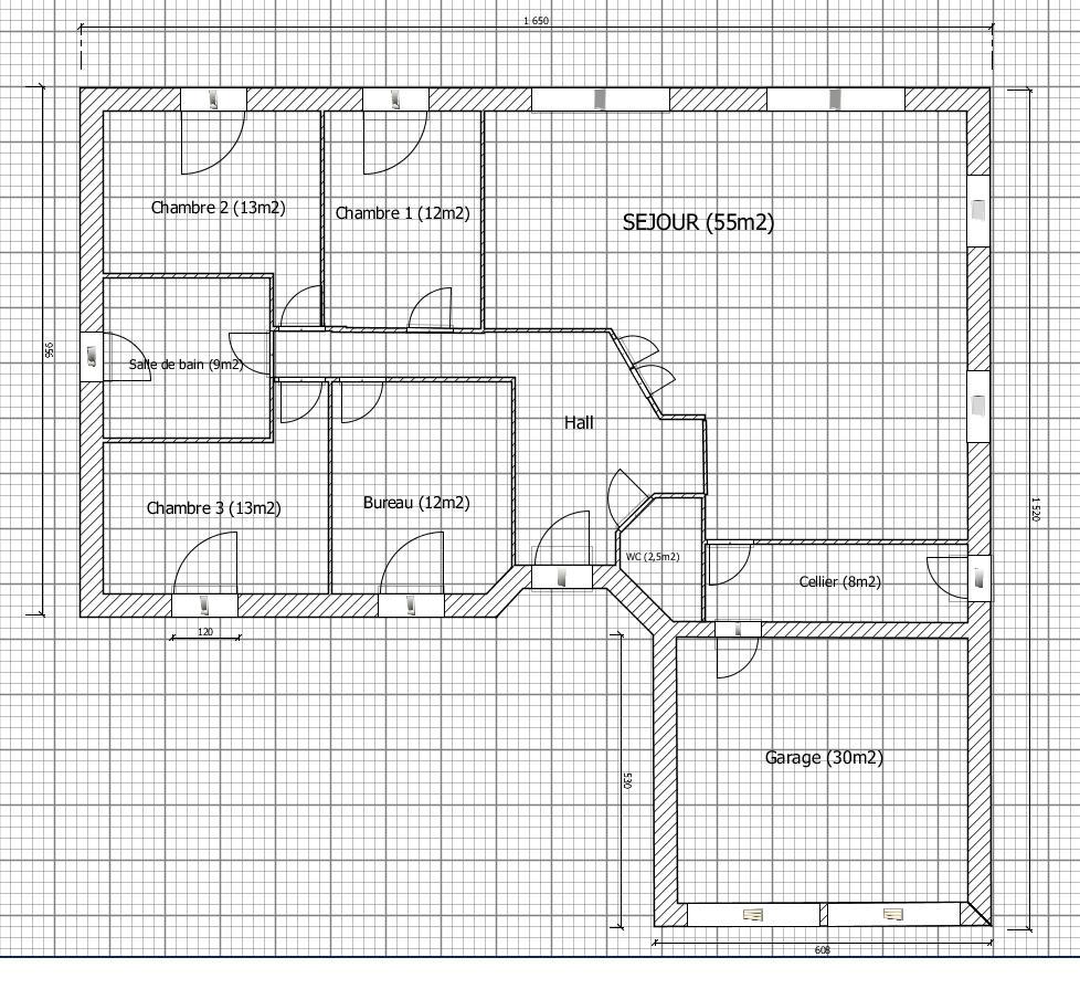 Besoin d avis sur 1er plan plaind pied 140m2 plan modifi - Plan maison 140m2 plain pied ...