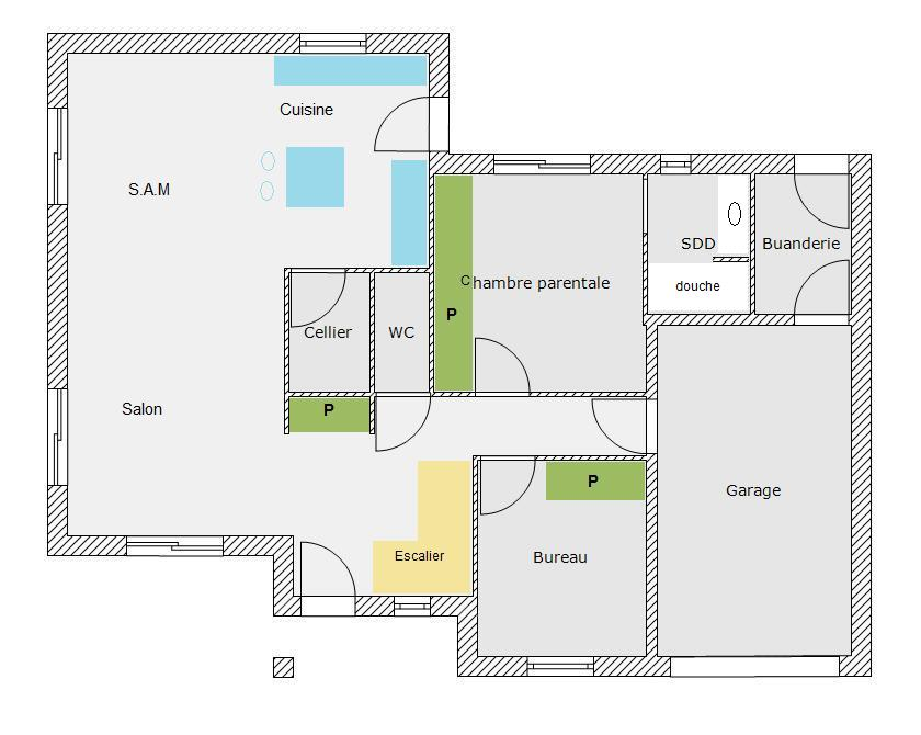 Astonishing Plan Maison M  Chambres Contemporary  Best Image