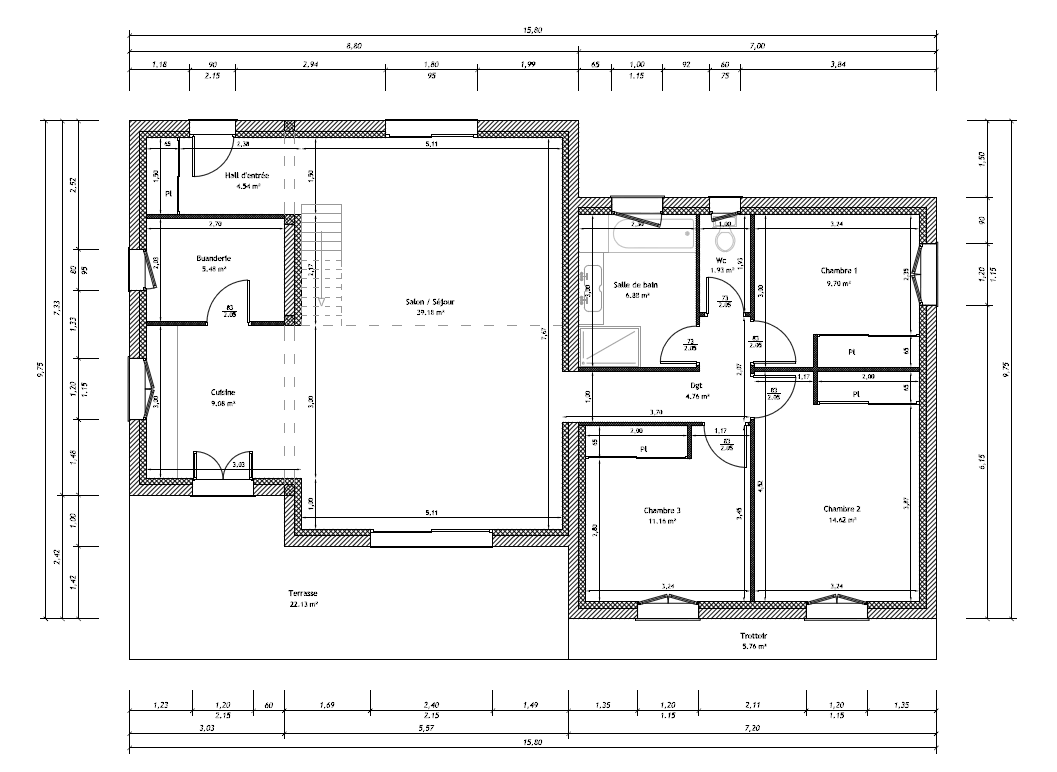 Besoin avis plan de maison 105 m mezzanine 36 messages for Mezzanine plan