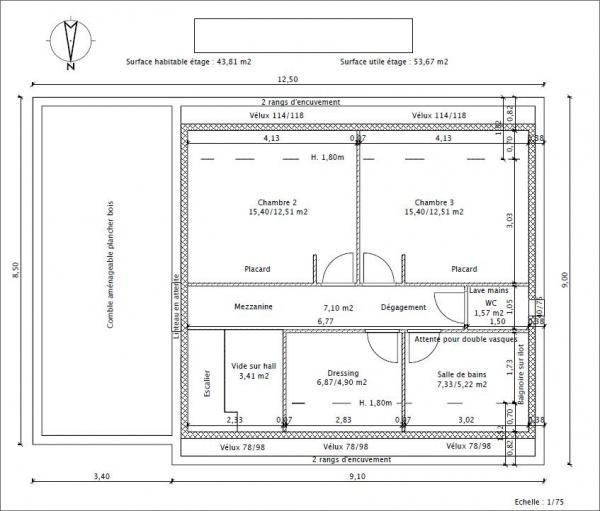 Besoin d 39 avis sur plan de maison de 110 120 m 25 messages - Largeur couloir maison ...