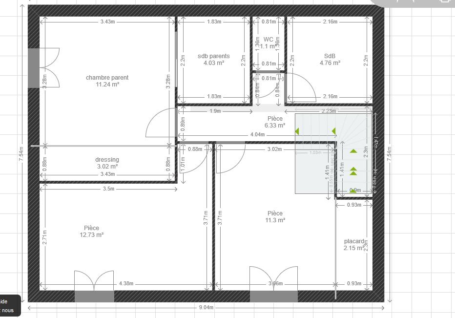 Besoin d 39 avis sur plan de maison de 110 m 79 messages - Plan maison avec cotation ...