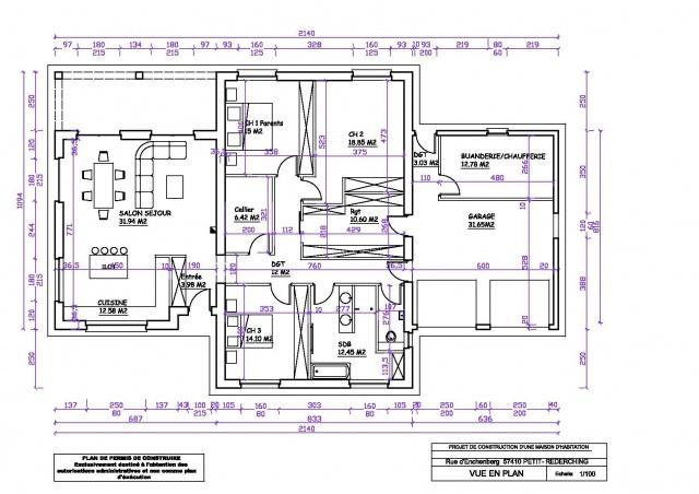 Extrêmement Plan De Maison En T. Finest Dtail Du Plan De Maison Wv With Plan  VI58
