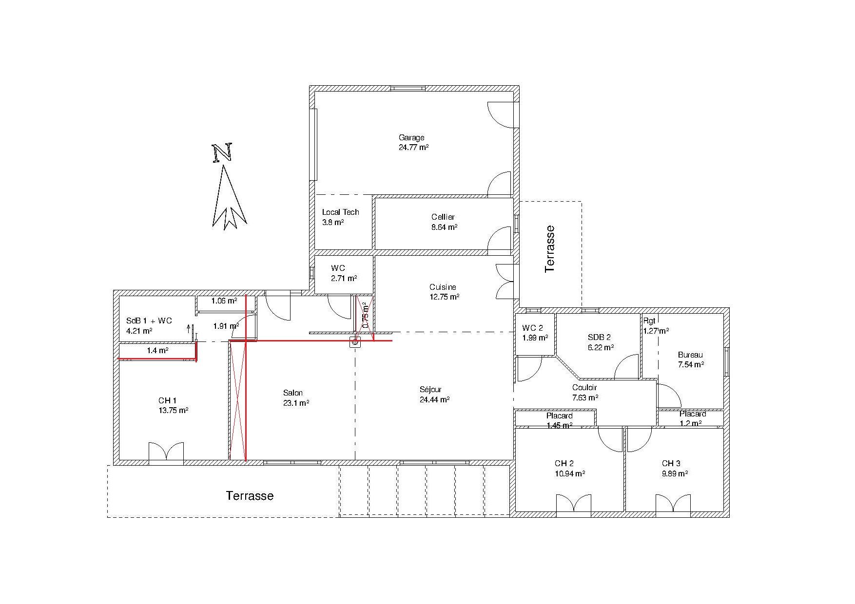 Besoin d 39 avis pour plan de maison environ 140 m2 nouveau for Plan maison moderne 140m2