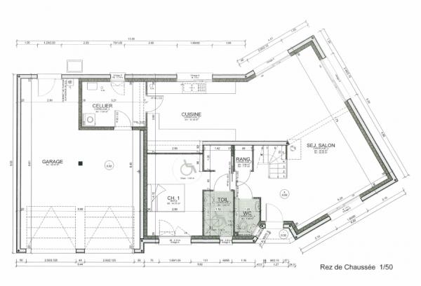 plan maison 160m2
