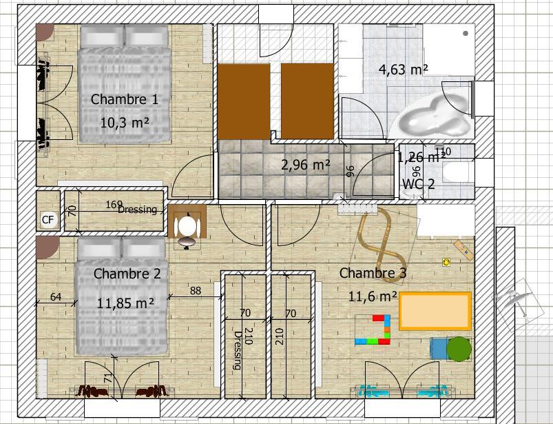 besoin d 39 avis sur plan de maison de 90 20 m2 en r 1 76. Black Bedroom Furniture Sets. Home Design Ideas