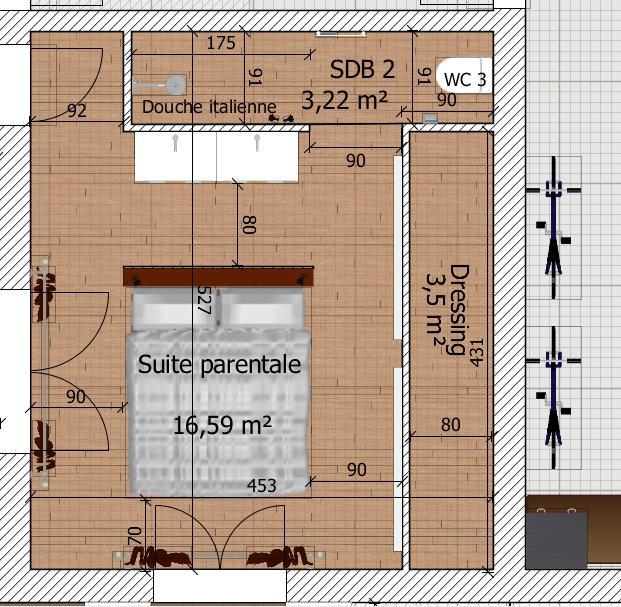besoin d 39 avis sur plan de maison de 90 20 m2 en r 1 76 messages page 4. Black Bedroom Furniture Sets. Home Design Ideas