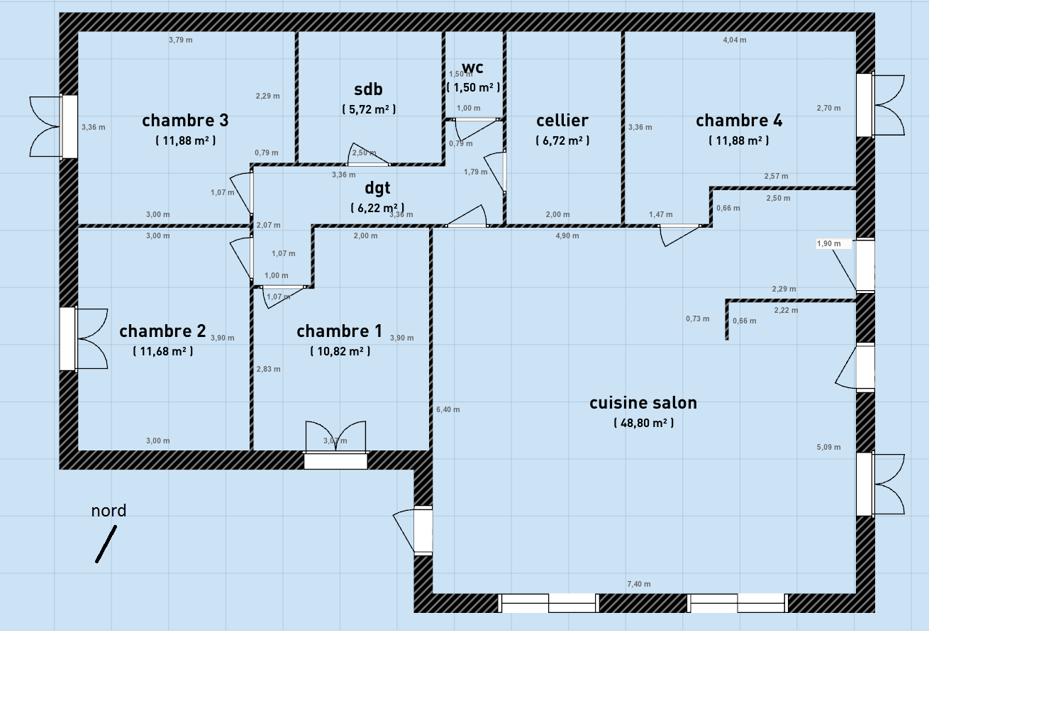 Maison 150m2 plain pied conceptions de la maison for Plain pied plan
