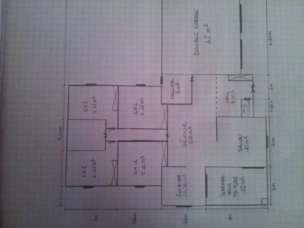 Besoin d avis pour plan maison plain pied 12 messages - Plan maison 110m2 plein pied ...