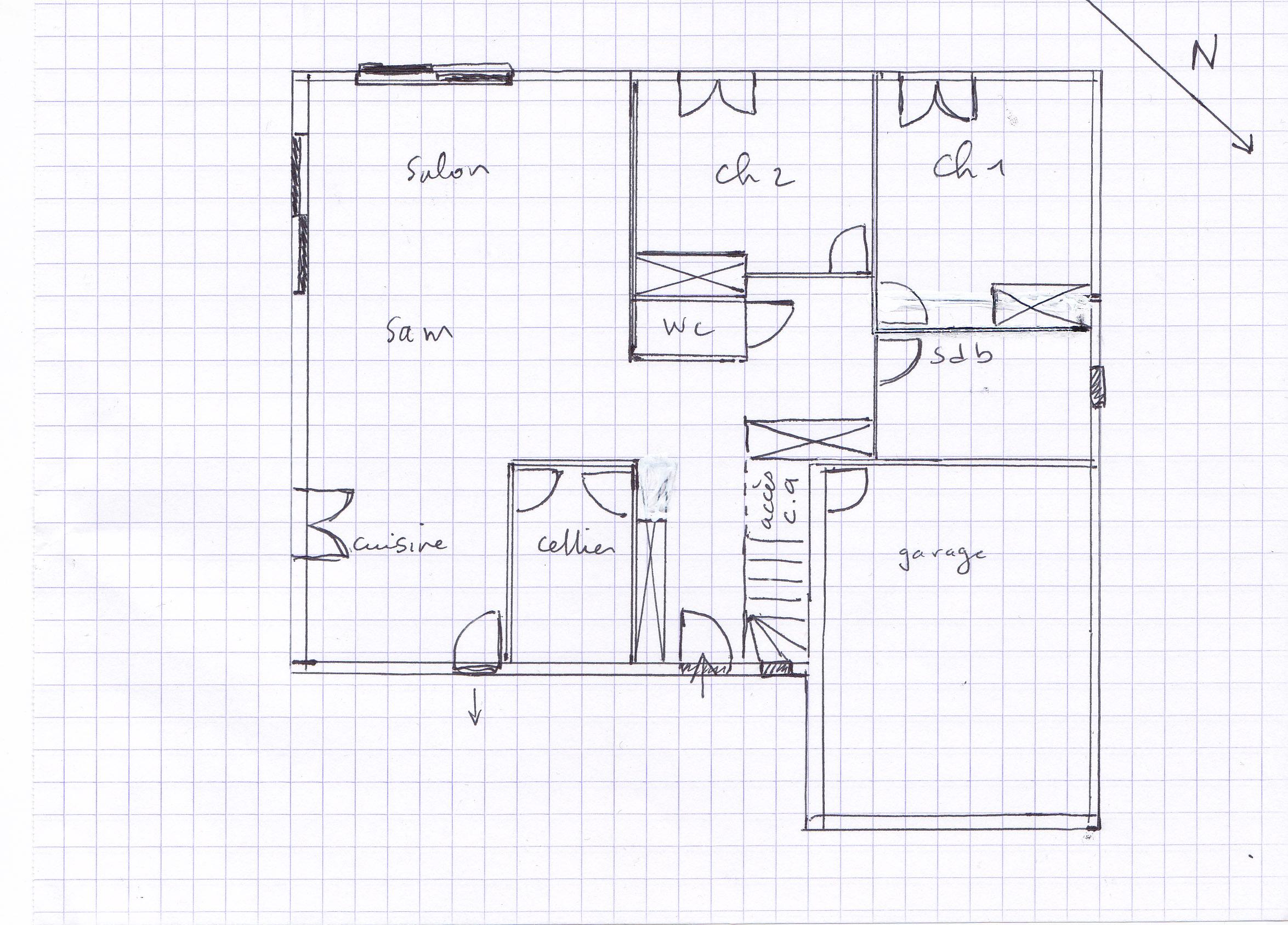Plan Petite Maison Plain Pied Plan Une Petite Maison