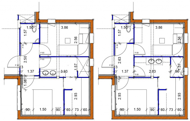 Besoin de votre avis sur plans de maison 160m2 r solu - Porte coulissante plan ...