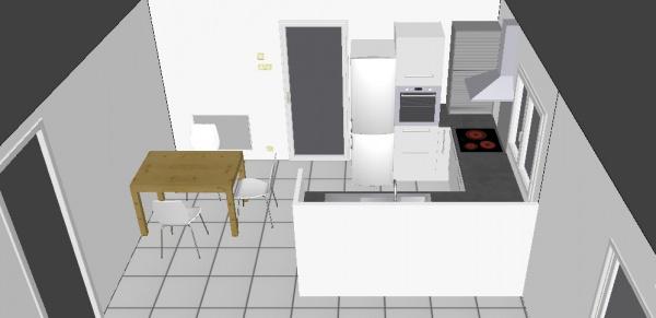 Besoin avis projet cuisine plans 3d 4 messages for Projet cuisine 3d
