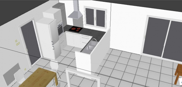 besoin avis projet cuisine plans 3d 4 messages. Black Bedroom Furniture Sets. Home Design Ideas