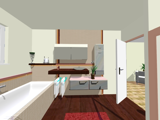 Plan salle de bain en longueur salle de bain bois pour for Salle de bain en longueur