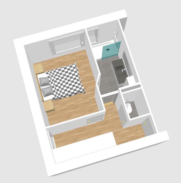 beautiful separation dans un grande salle de bain avec wc photos amazing house design. Black Bedroom Furniture Sets. Home Design Ideas