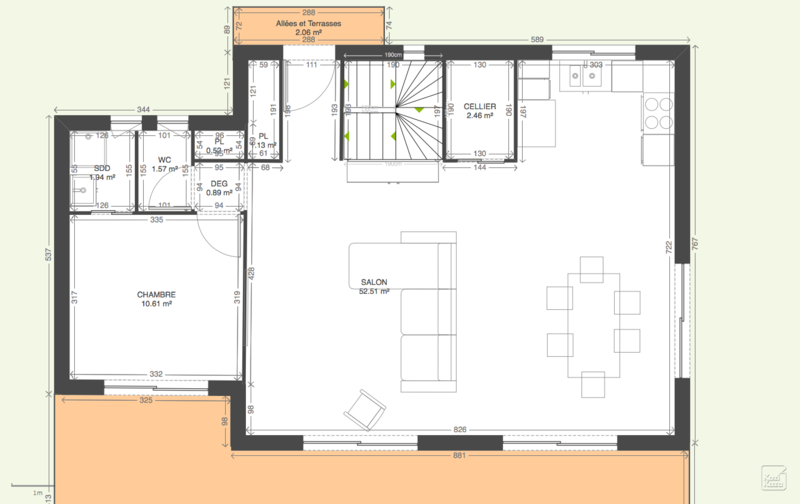 Plan maison contemporaine sur pilotis for Maison contemporaine 140m2