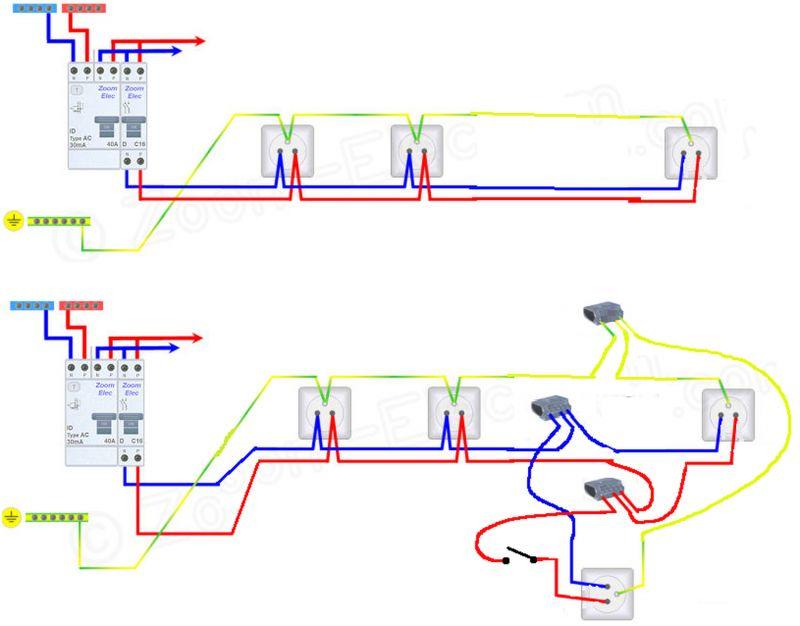 schema electrique prise commande par interrupteur schma. Black Bedroom Furniture Sets. Home Design Ideas