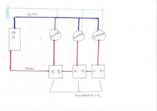 Branchement electrique 3 points lumineux 4 messages - Schema electrique eclairage exterieur ...