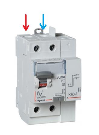 Comment brancher un interrupteur diff rentiel legrand 63a sur un peigne vertical d di des - Branchement disjoncteur differentiel ...