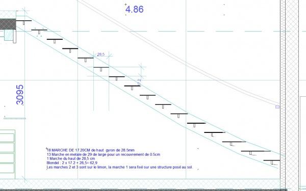 Calcul de mon escalier r solu 33 messages for Calcul pour un escalier droit