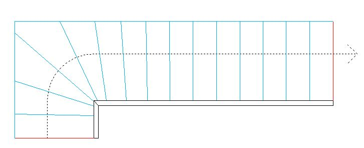 comment faire le plan d 39 un escalier quart tournant en metal 20 messages. Black Bedroom Furniture Sets. Home Design Ideas