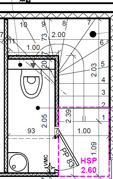 Dimension sous l escalier pour wc r solu 15 messages - Decoration wc sous escalier ...