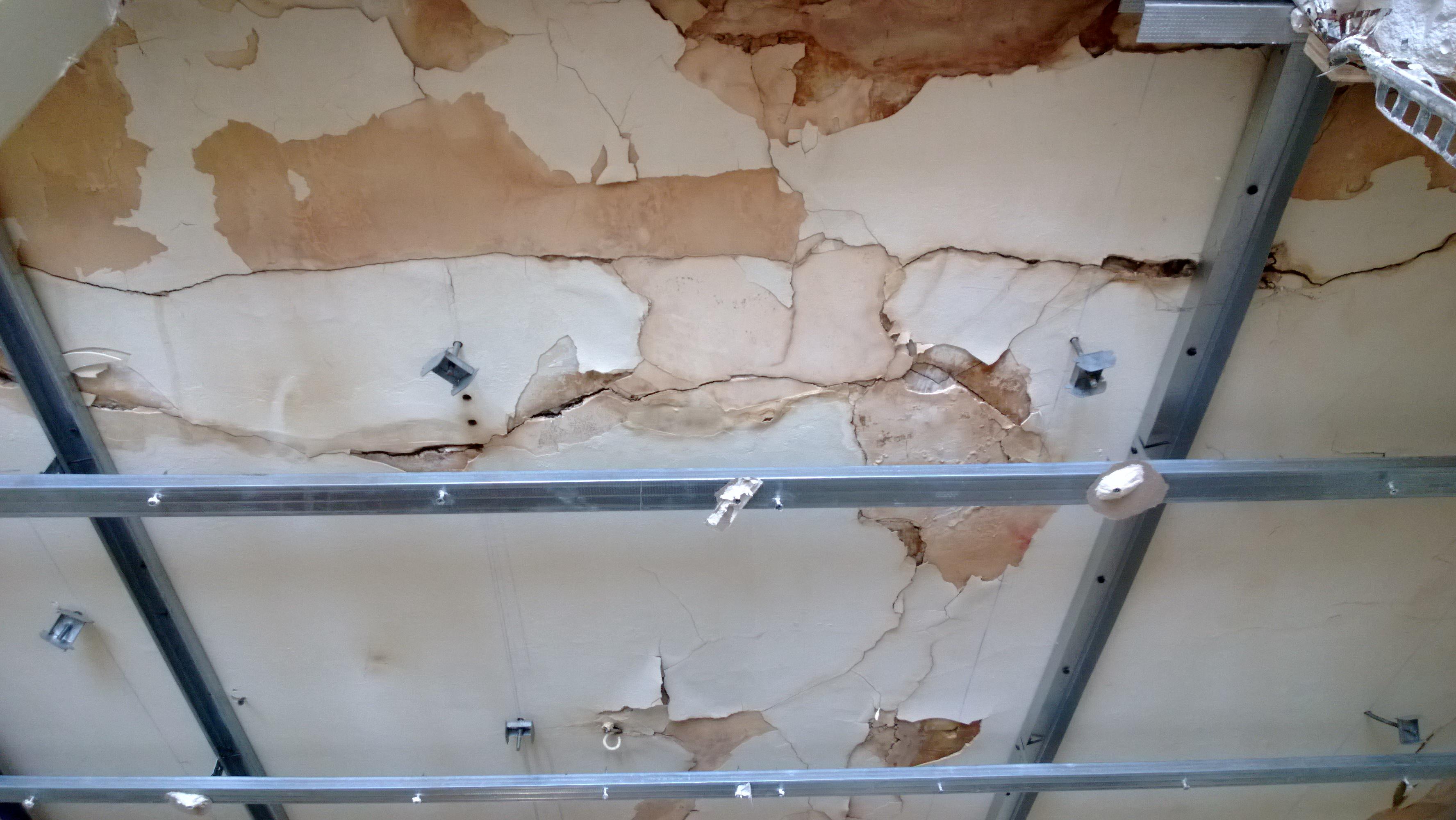 Réparer Un Plafond En Platre à chape plafond qui s'affaisse - 19 messages