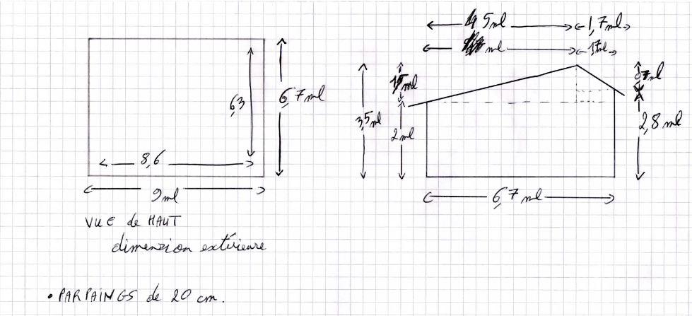charpente 2 pents pour garage 8 messages. Black Bedroom Furniture Sets. Home Design Ideas