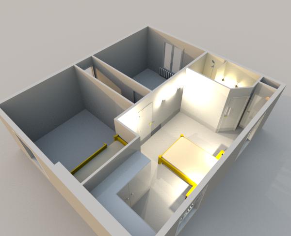 Emejing comment separer 2 chambre contemporary design for Astuce pour separer une chambre en 2