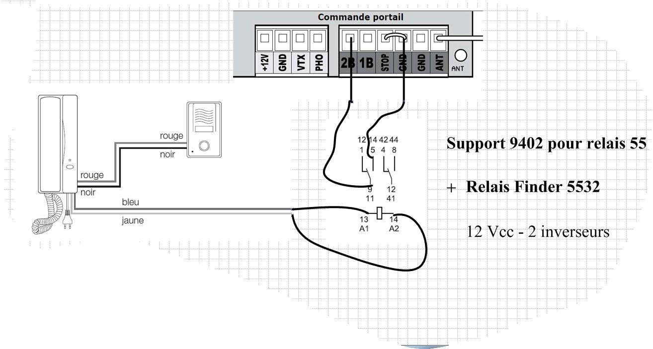 commander un portail electrique partir d 39 un interphone 14 messages. Black Bedroom Furniture Sets. Home Design Ideas