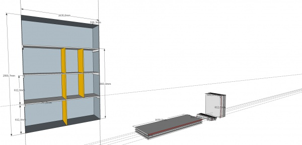 conception am nagement placard mural 7 messages. Black Bedroom Furniture Sets. Home Design Ideas