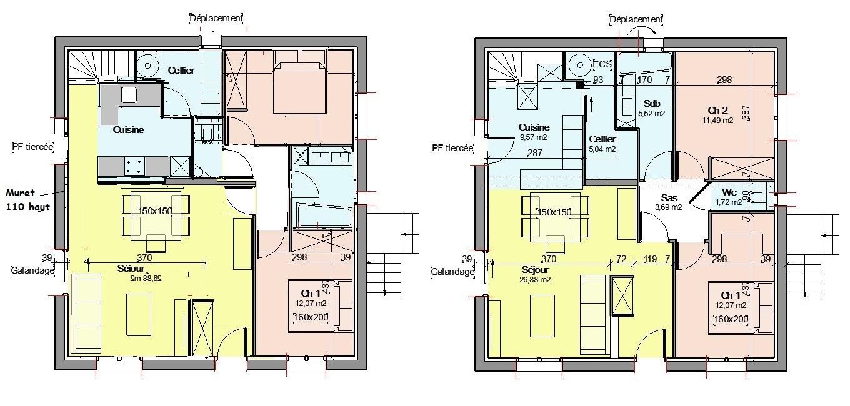Conseil pour plan de maison 75m plein pied r novation 36 messages - Detruire un mur porteur ...