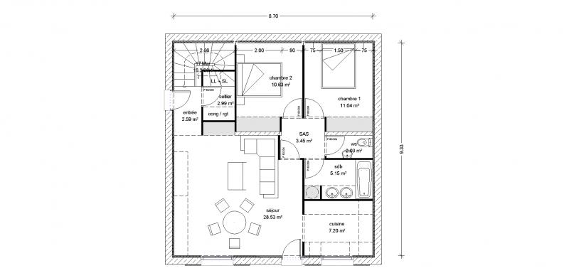 conseil plan de maison 80 m r novation compl te 37 messages page 2. Black Bedroom Furniture Sets. Home Design Ideas