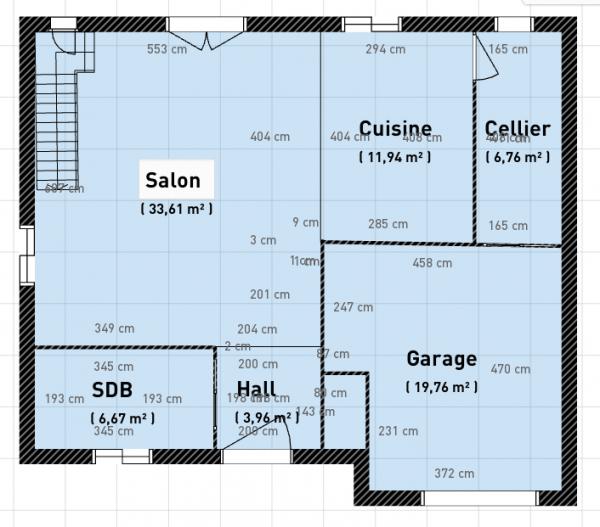 plan maison 8x12